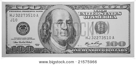 $100 dollar bill USD