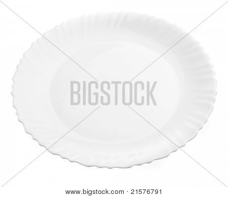 white plate isolated on a white background