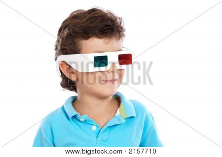 Child with 3D Glasses