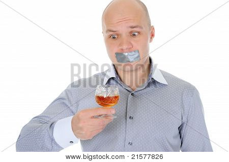 young businessman alcoholic