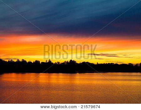 Himmel-Afterglow-Sunset