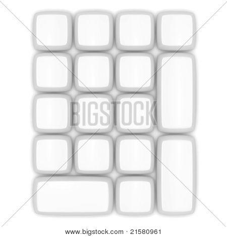 Blank Keypad