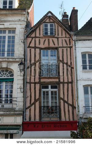 French traditional house in Sens