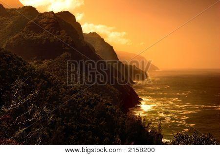 Wild Island Landscape - Sunset