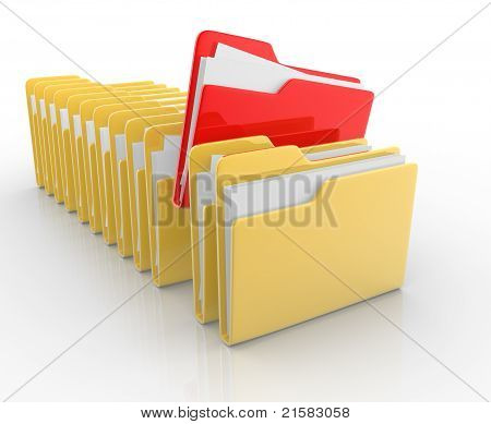 Folders With Paper
