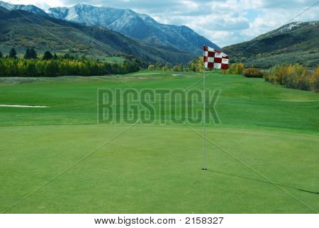 Golf Green In Mountains