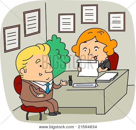 Illustration of an HR Personnel at Work
