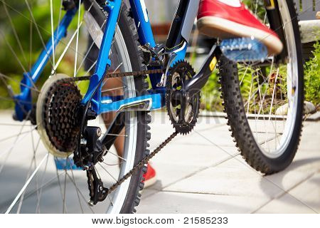 Blick auf ein Mountainbike