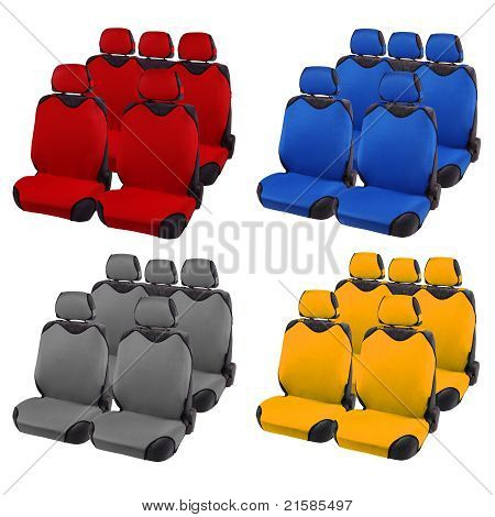 Set Of Car Seats Different Colors