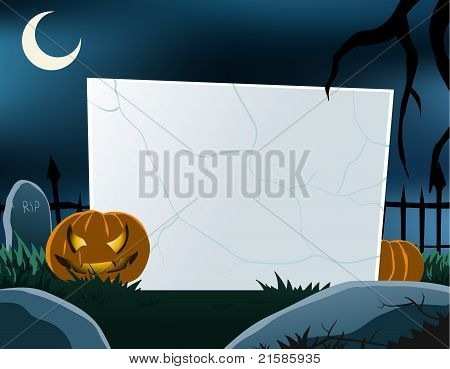 Halloween Theme Blank Board