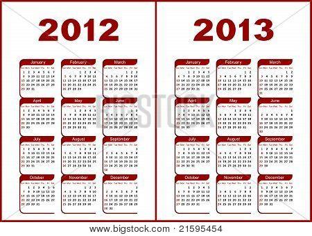 Calendario 2012,2013.