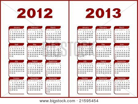 Kalender 2012,2013.