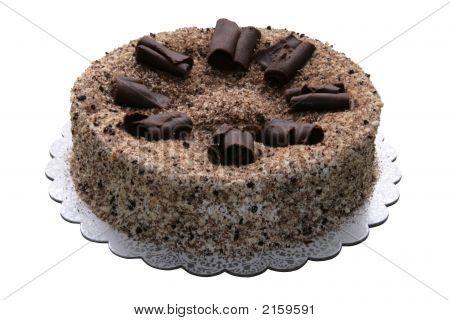 Peach Filled Chocolate Cake