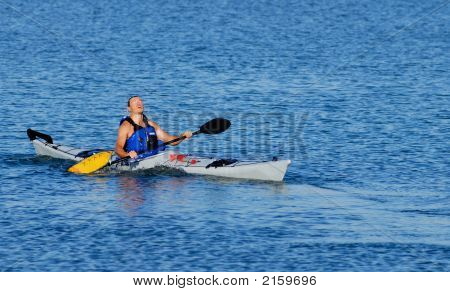 Kayaker Emerges After Float-Asisted Roll