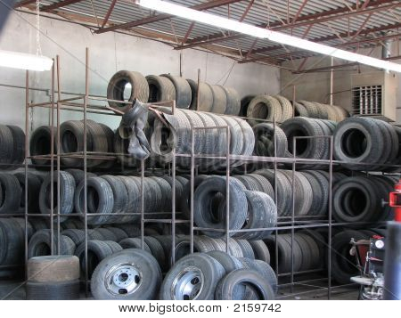 Rack Of Used Tires