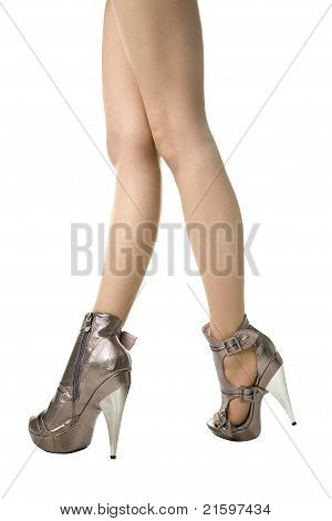 Legs In Glamour Heels