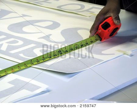 Worker Measuring Tape Measure