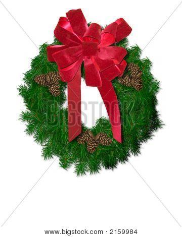 Wreath With Pinecones