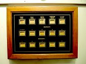 stock photo of slave-house  - Indicator panel used in houses where the owners have servants working for them - JPG