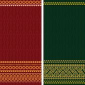 stock photo of rangoli  - Indian Sari Borders - JPG