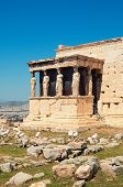 image of akropolis  - Caryatids of the Erechtheion in the Akropolis of Athens Greece - JPG