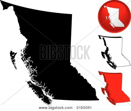 Detailed Map Of British Columbia, Canada