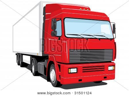Red semi-truck (my design)