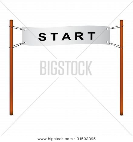 Starting line - ribbon with start