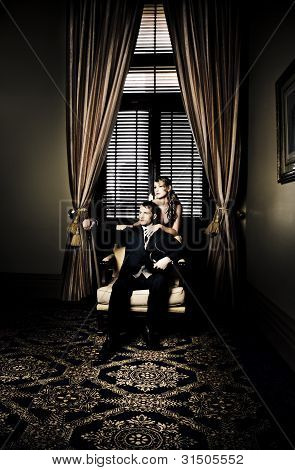 Wealthy Young Couple