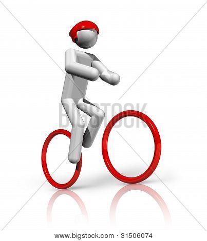 Radfahren Mountainbike Fahrrad 3d symbol