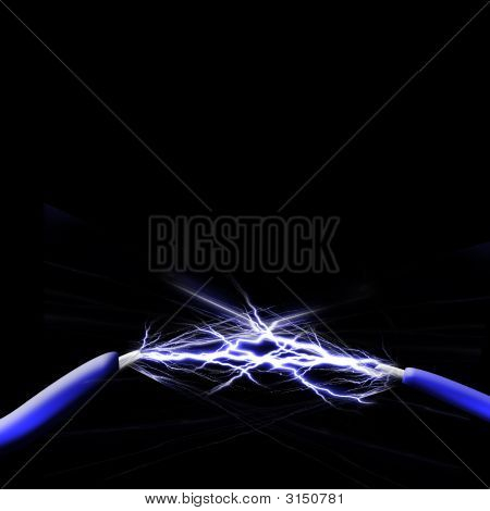 Spark Between Two Wires