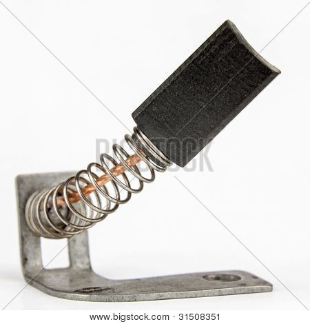 Escova de carbono, também chamada de escova do gerador