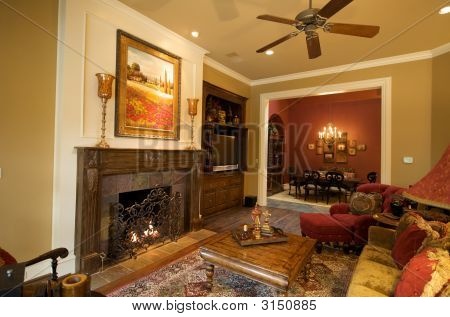 An Upscale Living And Dining Room