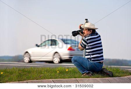 photograph on duty