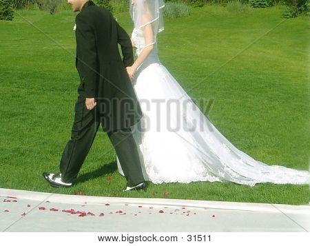 Groom Leading Bride