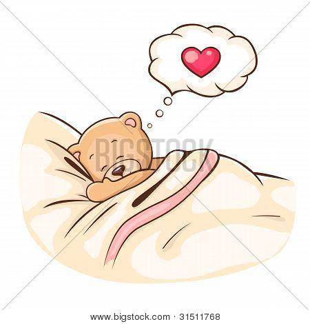 Teddy Bär schläft