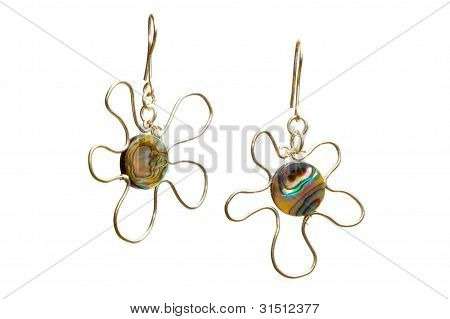 Handmade Wire-work Nacreous Earrings