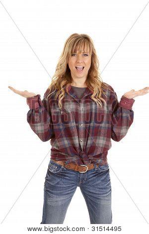 Checkered Shirt Hands Up