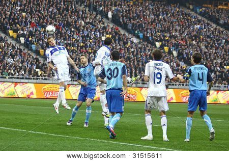 Football Game Between Fc Dynamo Kyiv And Fc Dnipro