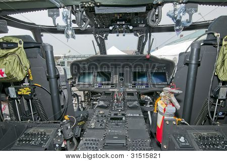 cockpit of Sikorsky helicopter
