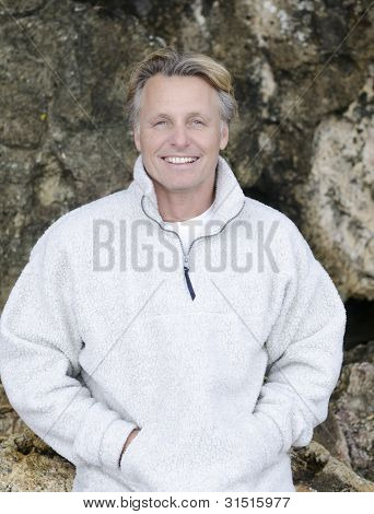 happy smiling mature man