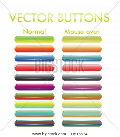 ten colorful stick buttons
