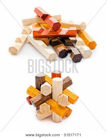Wooden Geometric Puzzle