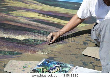 Pintura de Italiano en la calle