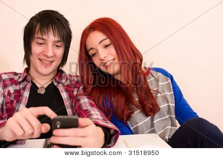 Smiling At The Smartphone