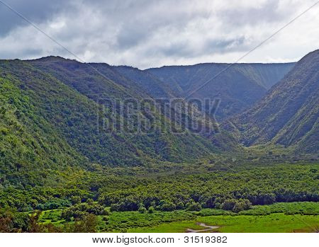 Polulu Valley On Big Island In Hawaii