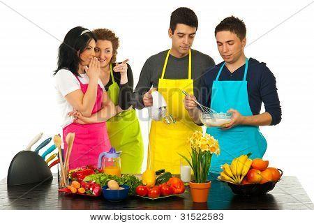 Kitchen Women Gossip