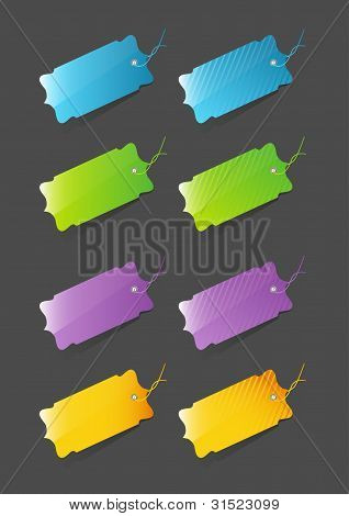 Modern colorful price tags