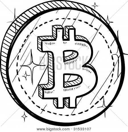 Bitcoin sign sketch