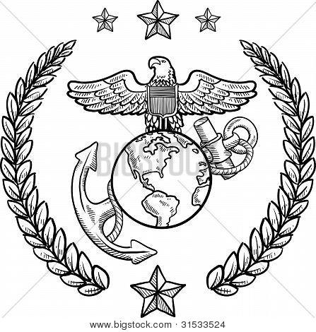 Insignia del cuerpo de Marines de Estados Unidos
